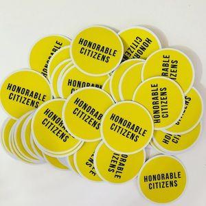 """NEW 2.5"""" UV vinyl Honorable Citizens Sticker"""